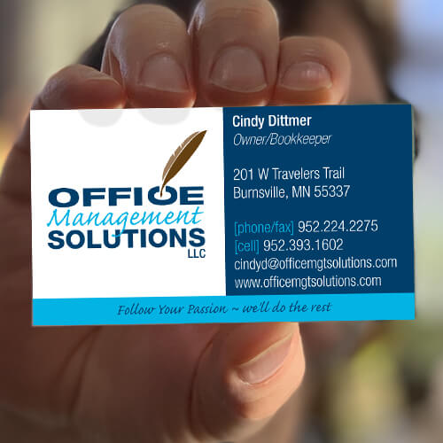 Bookkeeper business card and logo design