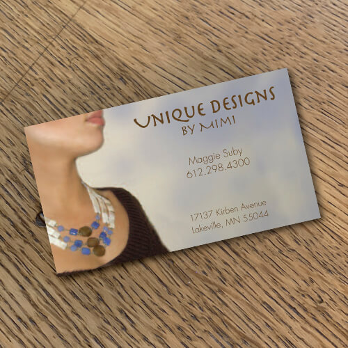 Jewelry card design