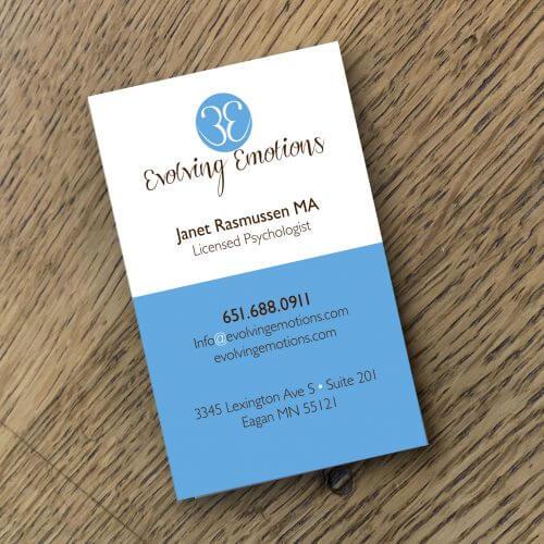psychologist business card logo